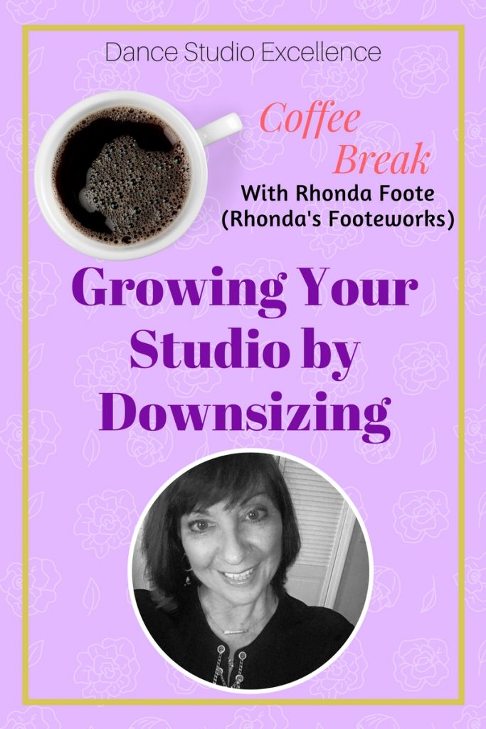 Grow Your Studio by Downsizing - interview with Rhonda Foote